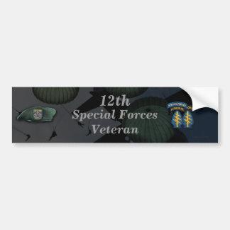 12de speciale de veteranendierenartsen van bumpersticker
