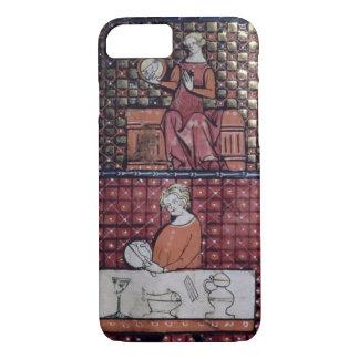 1370011409/1 Gezette vrouw met een duif en een man iPhone 7 Hoesje