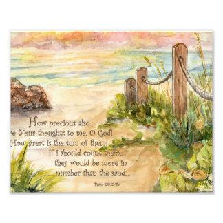 139:17 van de Psalm van de Zonsopgang van het stra Foto Afdruk