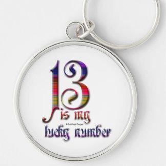13 zijn mijn Gelukkige aantal-Kleur Sleutelhanger