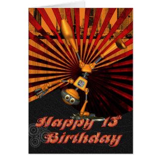 13de Verjaardag, de Kaart van de Verjaardag van de