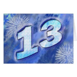 13de verjaardagskaart kaart