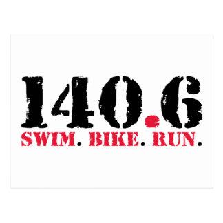 140.6 zwem de Looppas van de Fiets Briefkaart