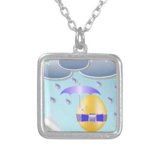146Easter Egg_rasterized Zilver Vergulden Ketting