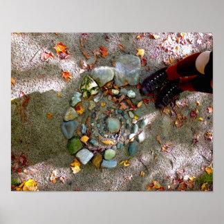 """14"""" x 11"""", het Poster van de Rotsen van de Herfst"""