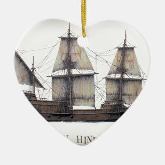 1578 gouden Hinde Keramisch Hart Ornament