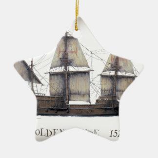 1578 gouden schip Hinde Keramisch Ster Ornament