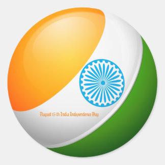 15 augustus de Dag van de Onafhankelijkheid van Ronde Sticker