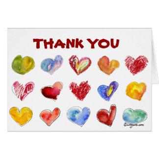 15 de Harten van de liefde danken u kaarden Briefkaarten 0