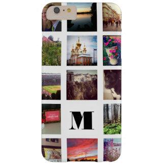 15 Foto's Instagram met monogram op Wit Barely There iPhone 6 Plus Hoesje