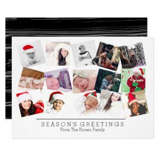 15 het Zwarte Wit van Kerstmis van de Collage van Kaart