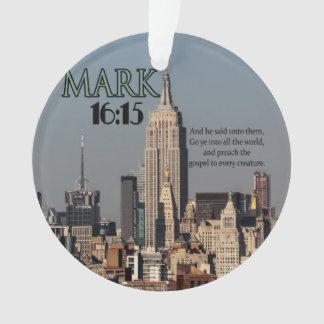 16:15 VAN MARK VAN HET VERS VAN DE BIJBEL VAN DE ORNAMENT