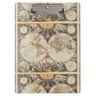 1702 een nieuwe kaart van de wereld klembord