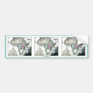 1720 de Kaart van Afrika Vetus Bumpersticker