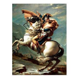 1801 Napoleon die de Alpen, Jacques-Louis Dav Briefkaart