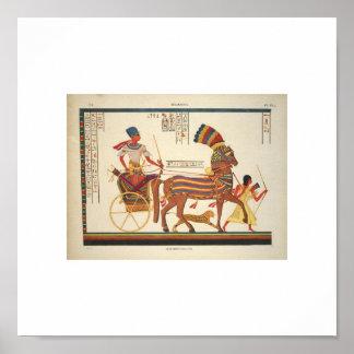 1835 zeldzaam Egyptisch Afbeelding Poster