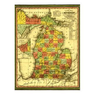1853 de levendige Kaart van Michigan toont ware