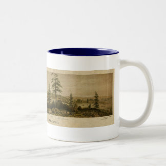 1860 uitzicht van Victoria, Vancouver Tweekleurige Koffiemok
