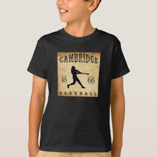 1866 het Honkbal van Cambridge Massachusetts T Shirt