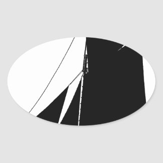 1873 Medway Peterboat - tony fernandes Ovale Sticker