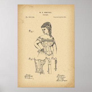 1875 het Korset van het octrooi Poster