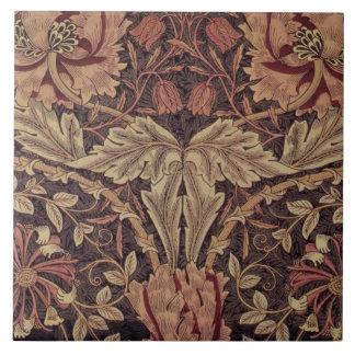 1876 de vintage Kamperfoelie van William Morris Keramisch Tegeltje