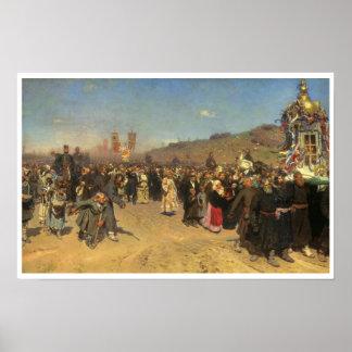 1880 Poster van de Kunst van de Optocht van Pasen