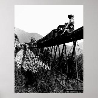 1880 trein bij Crawford Inkeping, NH Poster
