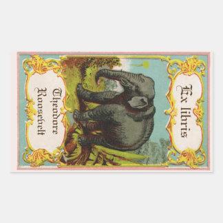 1880s de antiek Sticker van Bookplate van de