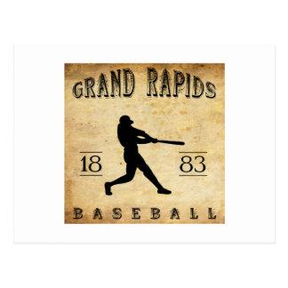 1883 het Honkbal van Grand Rapids Michigan Briefkaart