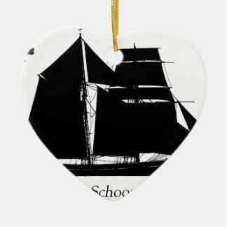 1883 topsailschoener - tony fernandes keramisch hart ornament