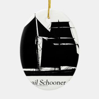 1883 topsailschoener - tony fernandes keramisch ovaal ornament