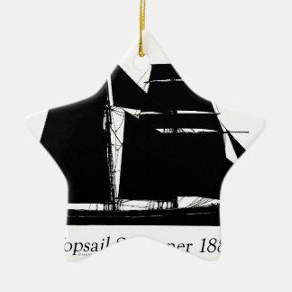 1883 topsailschoener - tony fernandes keramisch ster ornament