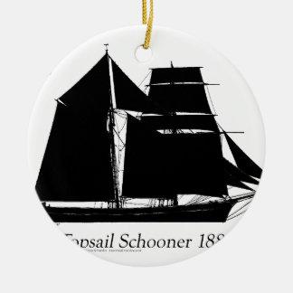 1883 topsailschoener - tony fernandes rond keramisch ornament