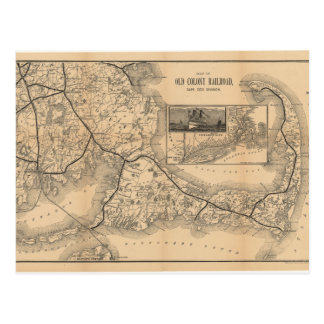 1888_Old_Colony_Railroad_Cape_Cod_map Briefkaart