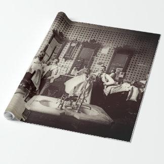 1890's de mannen Foto van de Salon van het Haar Inpakpapier