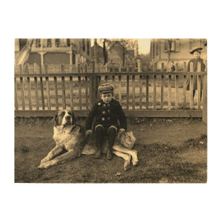 1890's de Zitting van de jongen op de Foto van de Hout Afdruk