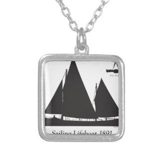 1891 varende reddingsboot - tony fernandes zilver vergulden ketting