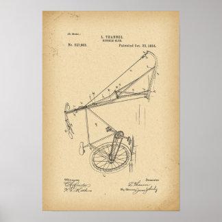 1894 de slee van de Fiets van het octrooi Poster