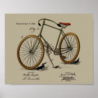 1895 de vintage Druk van de Kunst van de Kleur van Poster