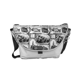 1896 vintage Sydney Australië Messenger Bag