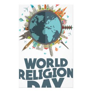 18 Januari - de Dag van de Godsdienst van de Briefpapier