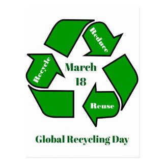 18 maart, het Globale Ontwerp van de Dag van het Briefkaart