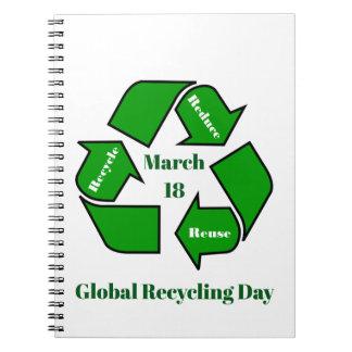18 maart, het Globale Ontwerp van de Dag van het Notitieboek