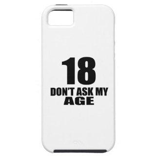 18 vraag Mijn Design van de Verjaardag van de Tough iPhone 5 Hoesje