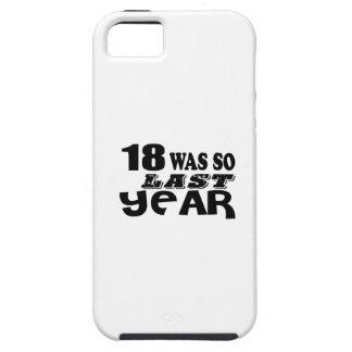 18 zo was zo vorig jaar het Design van de Tough iPhone 5 Hoesje