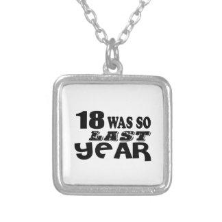 18 zo was zo vorig jaar het Design van de Zilver Vergulden Ketting