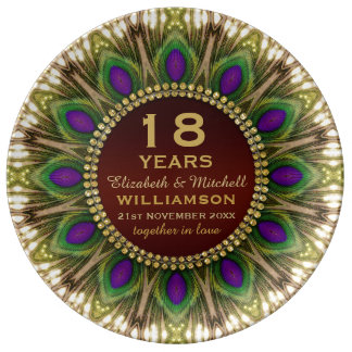 18de Bord   van het Porselein van het Jubileum de Porseleinen Bordjes