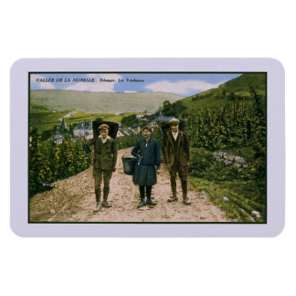 1900 de wijnoogst Schengen Luxemburg van Moezel Magneet