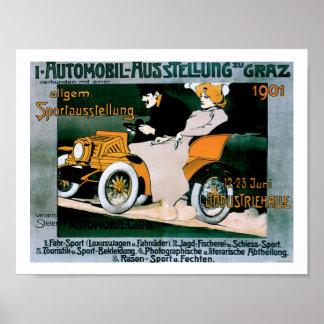 1901 Poster van de Druk van de Kunst van Graz het